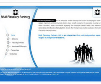 HTML Website for Finance 'Ram Fiduciary Partners' - Mutual Fund Broker