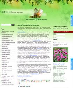 HTML Website for Healthcare 'Herbs Online Here' - Herbal Remedies