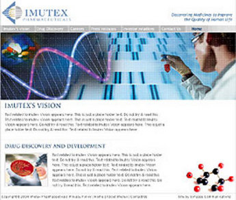 HTML Website for Drug Discovery & Development Company 'Imutex'