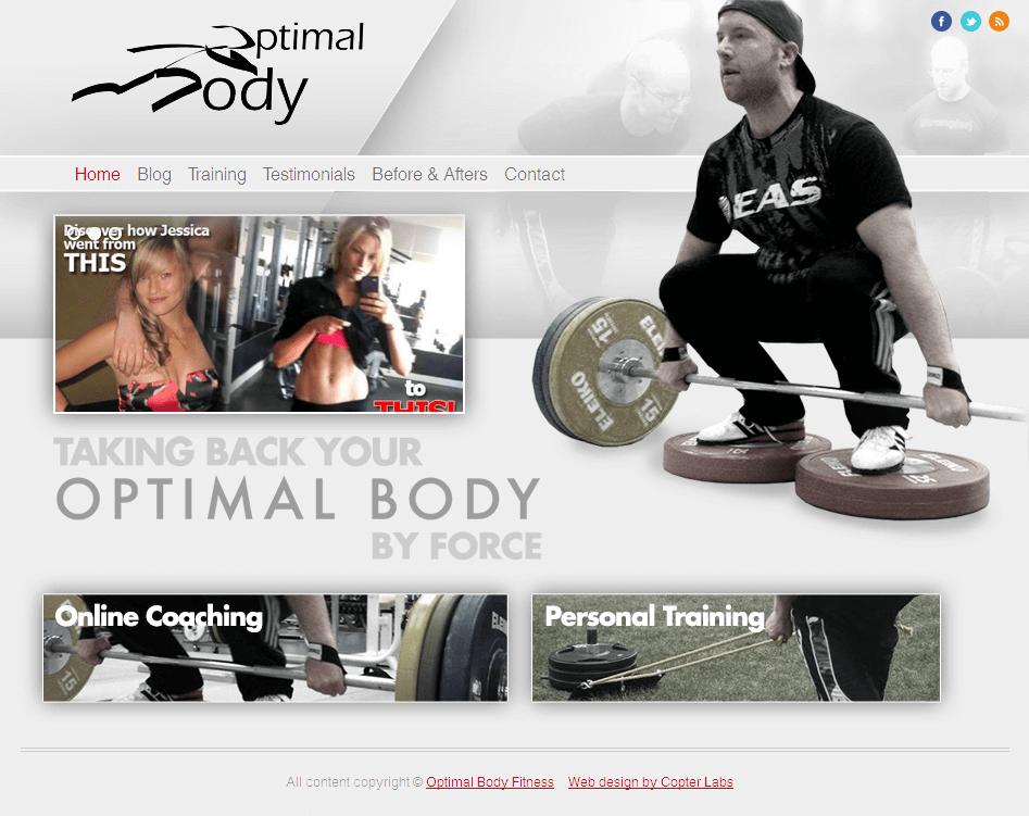 HTML Website for Healthcare 'Optimal Body' – Fitness Service Provider