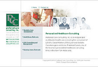 HTML Website for Nursing Home Consultancy firm 'PreferredCC'