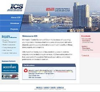 HTML Website for Business Support Organization 'ICS'