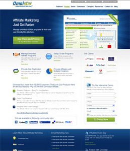 HTML Website for Affiliate Marketing Services Provider 'Omni Star'