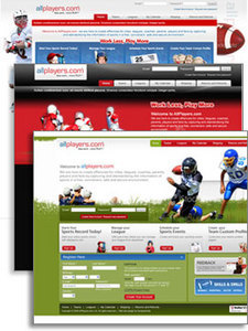 Landing Pages Design for Games Community Website