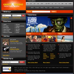 HTML Website for Media 'GamesXStudio' - Popular Games Online