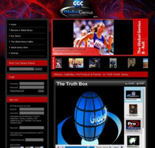 HTML Website for 'Global Genius Communications' – Athletes & Celebrities