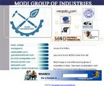 HTML Website for Modi Group of Industries 'modigroup.net'