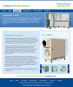 Website Development for Selling Heating and Cooling Equipments
