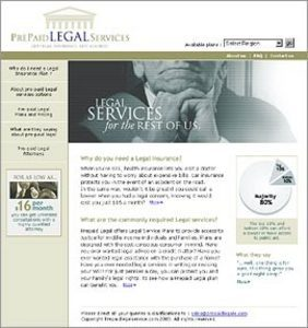 Development of Website for Prepaid Legal Services