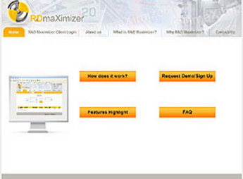 HTML Website for Scientific Research & Development Firm 'Rdmaximizer'