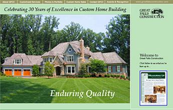 HTML Website for Real Estate 'Great Falls Construction' – Home Builder
