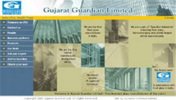 HTML Website for Float Glass Manufacturer 'Gujarat Guardian Limited'