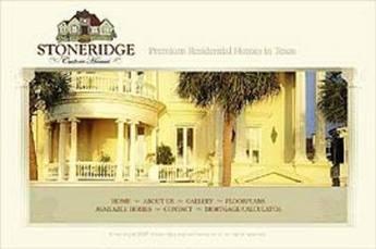 HTML Website for Real Estate 'Stoneridge' - House Construction Company