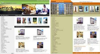 HTML Website for 'airporthotelsguide' – Airport Hotels Guide & Directory