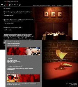 HTML Website for Dining and lounging Service Provider 'EpiphanyBoston'