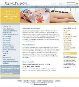 HTML Website for Resort & SPA Industry Products Supplier 'JeuneFusion'