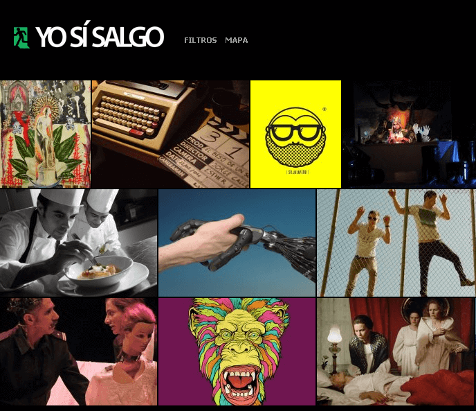HTML Website for Travel 'YO SI SALGO' Events Posting & Sharing Platform
