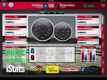 iPhone Mobile App for Australian Rules Football 'AFL'