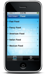 iPhone Mobile App for Consumer 'Mobile Location' - Advertising App