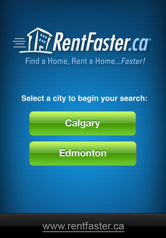 iPhone Mobile App for Real Estate 'RentFaster' – Search Property for Rent