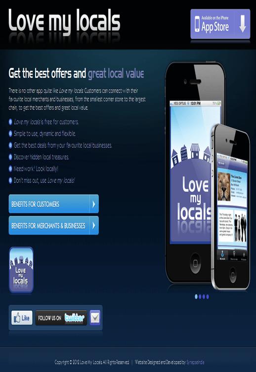 iPhone Mobile App to Find Local Merchants By Zip Code 'Love my locals'