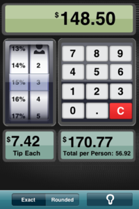 iPhone Mobile App to See Bill & Calculate Required Tip 'Tip Calculator'
