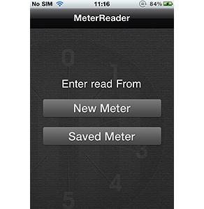 "iPhone Mobile App to take Meter Reading ""MeterReader"""