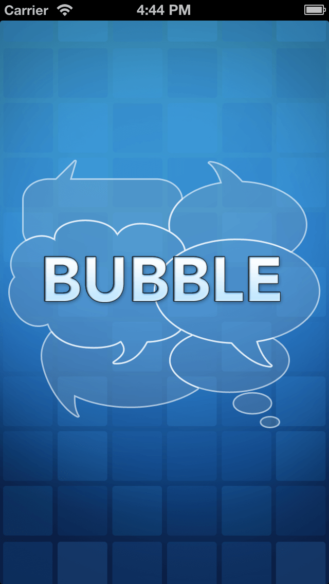 iPhone Mobile App for Creating Text Bubble 'Bubble'