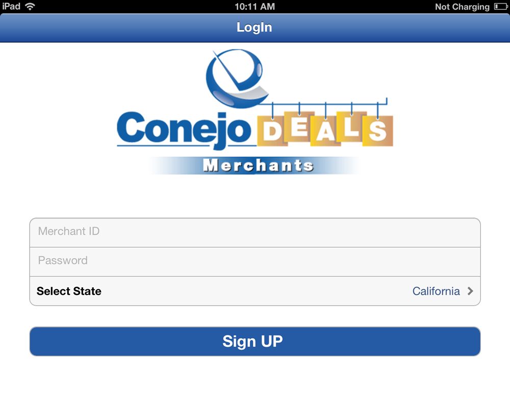 iPhone Mobile App for 'Conejo Deals' – Discount Coupons & Deals