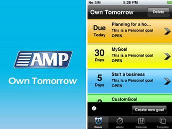 iPhone Mobile App for Consumer 'AMP' - Goal Tracker