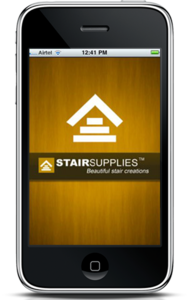 iPhone Mobile App for Consumer 'StairSupplies' - Stair Parts Supplier