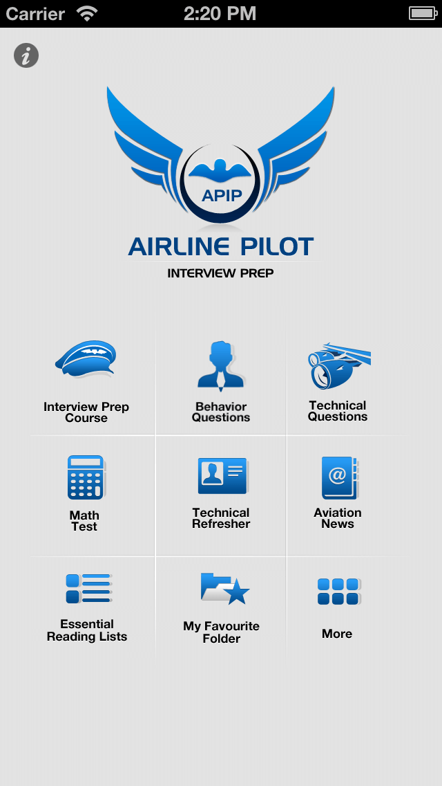 iPhone Mobile App for Airline Professionals 'AIRLINE PILOT'