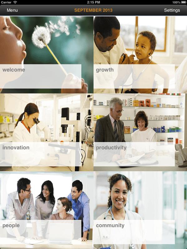 Gazette - An Informative iOS App for a Pharmaceutical Firm