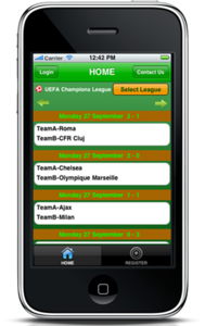 iPhone Mobile App for View Details of Champion League 'futmundial'