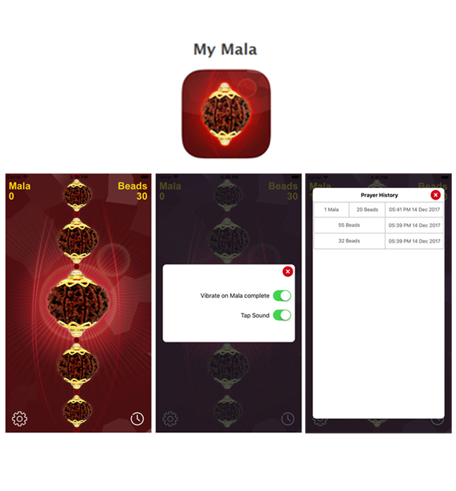 iPhone Mobile App for Listening Religious Mantras/Chants 'My Mala'