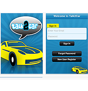 iPhone Mobile App for Communicating Between Vehicles 'Talk2Car'