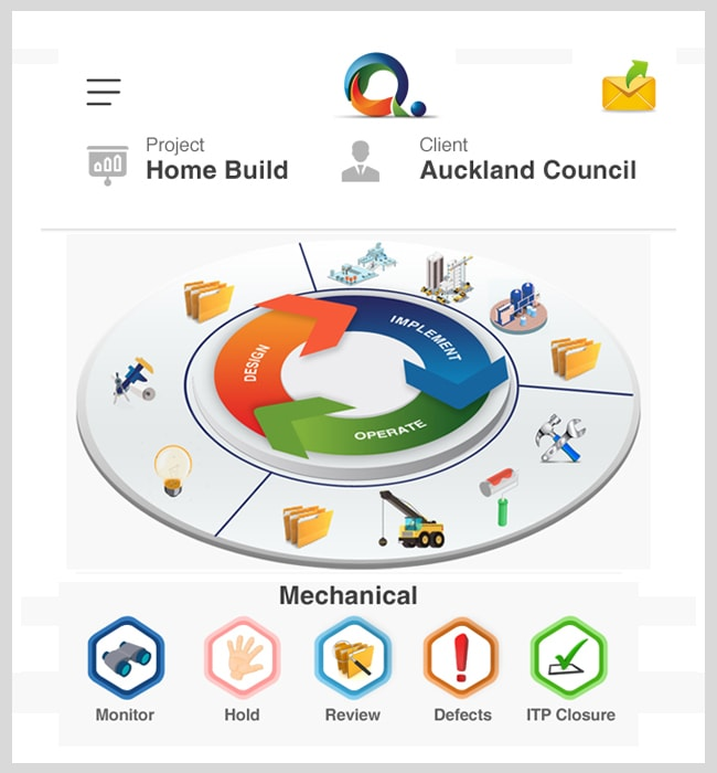 Mobile App Designing for QDot, a Construction Company in New Zealand