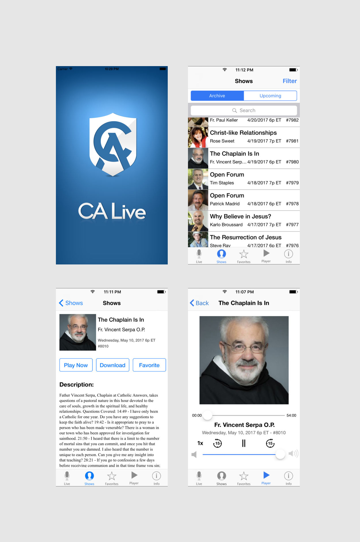 Designing & Development of Android and iOS App - CALive