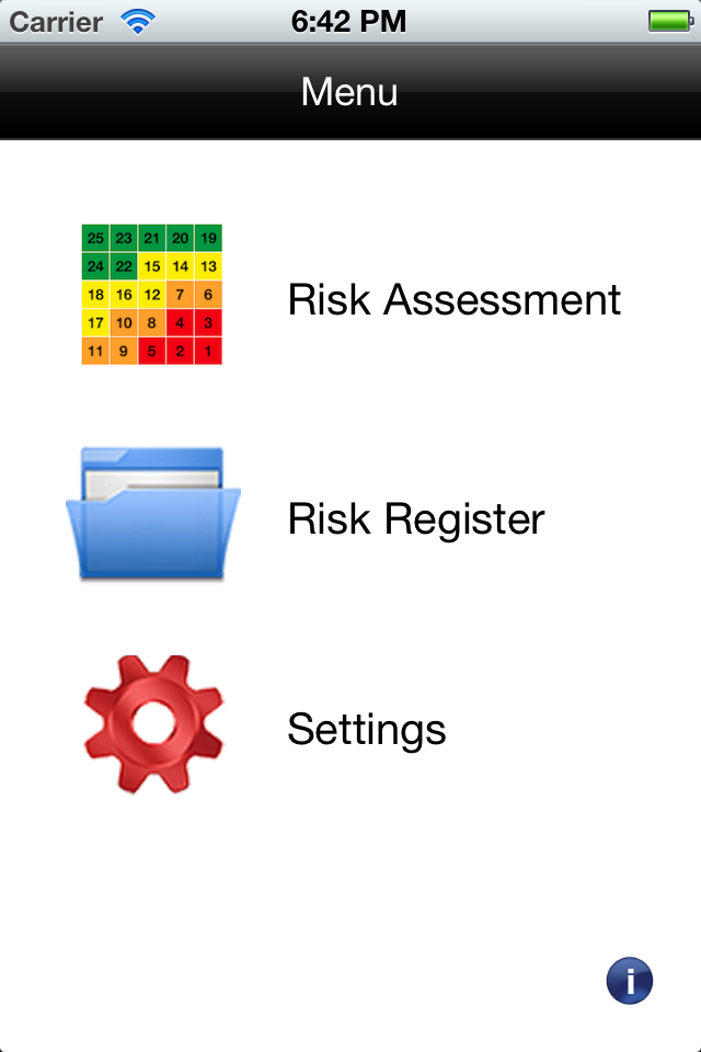 iPhone App for Risk Management