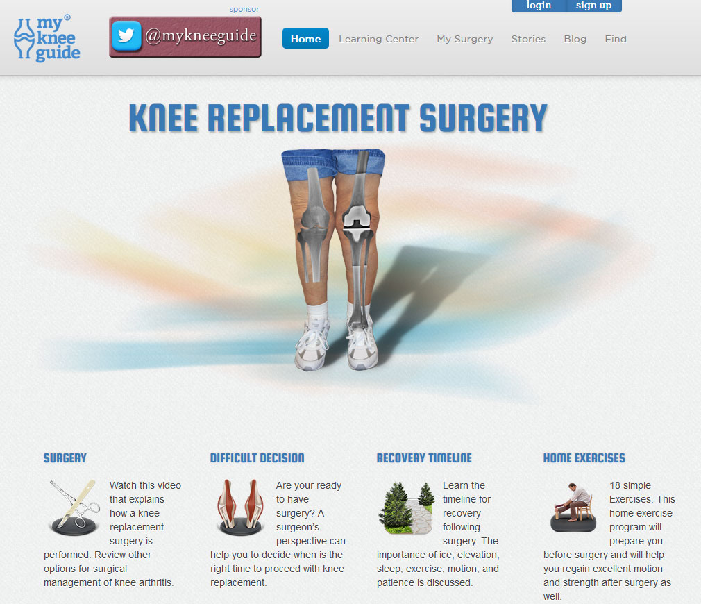 Maintenance of Joomla Website for Medical Industry, USA - My Knee Guide