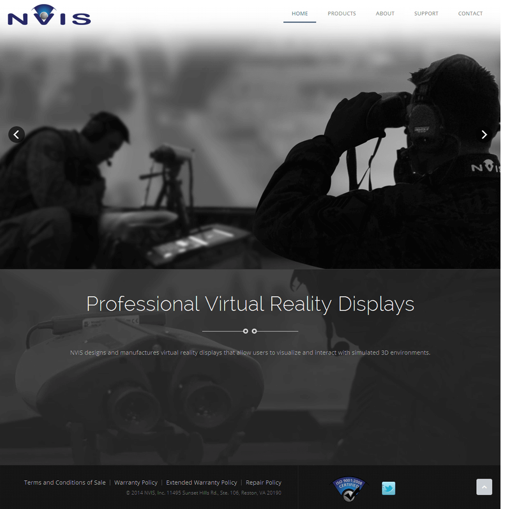 Nvisinc - A PHP Based Website For Virtual Reality Products