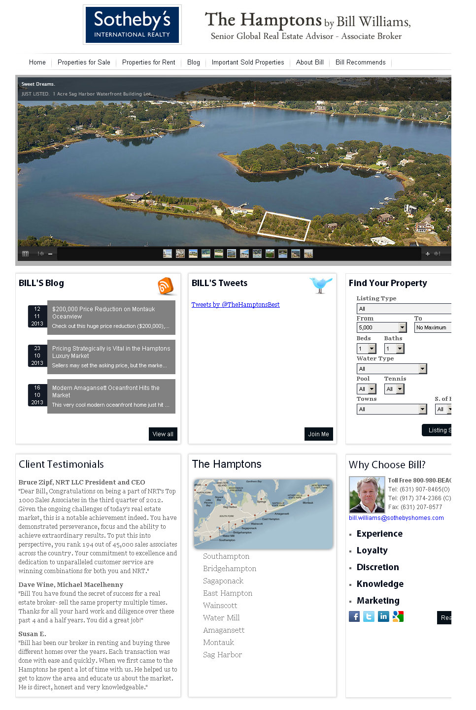 Development of Joomla Based Real Estate Website - Bill Williams Realty