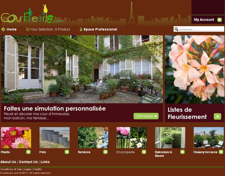 Development of Joomla Based Courtyard Assistance Website - Courfleurie
