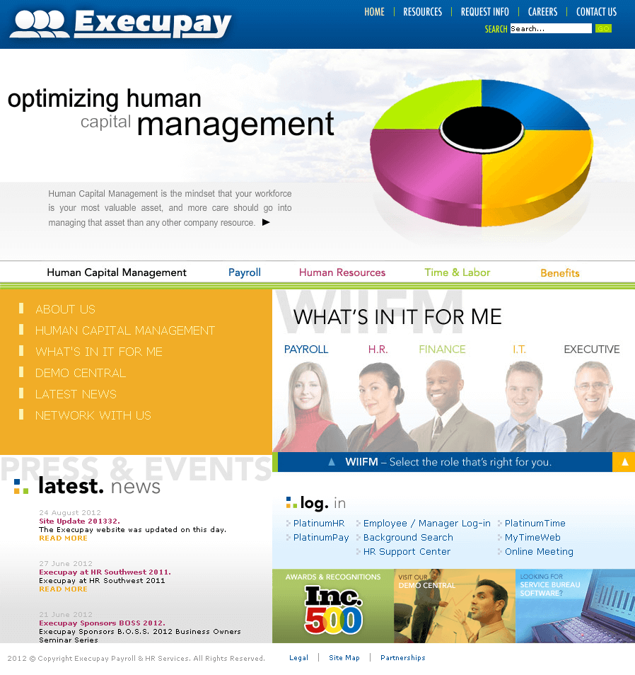 Joomla Website for Finance 'Execupay' – Payroll & HR Services
