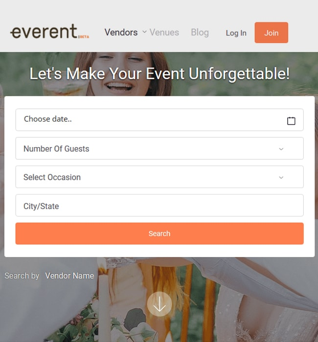 Laravel Website Development for Event Industry, USA - Everent