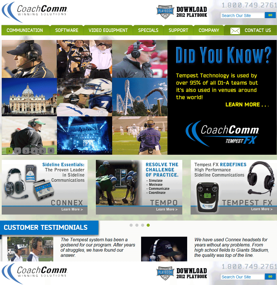 Magento Website for Online Sports Product Supplier 'CoachComm'