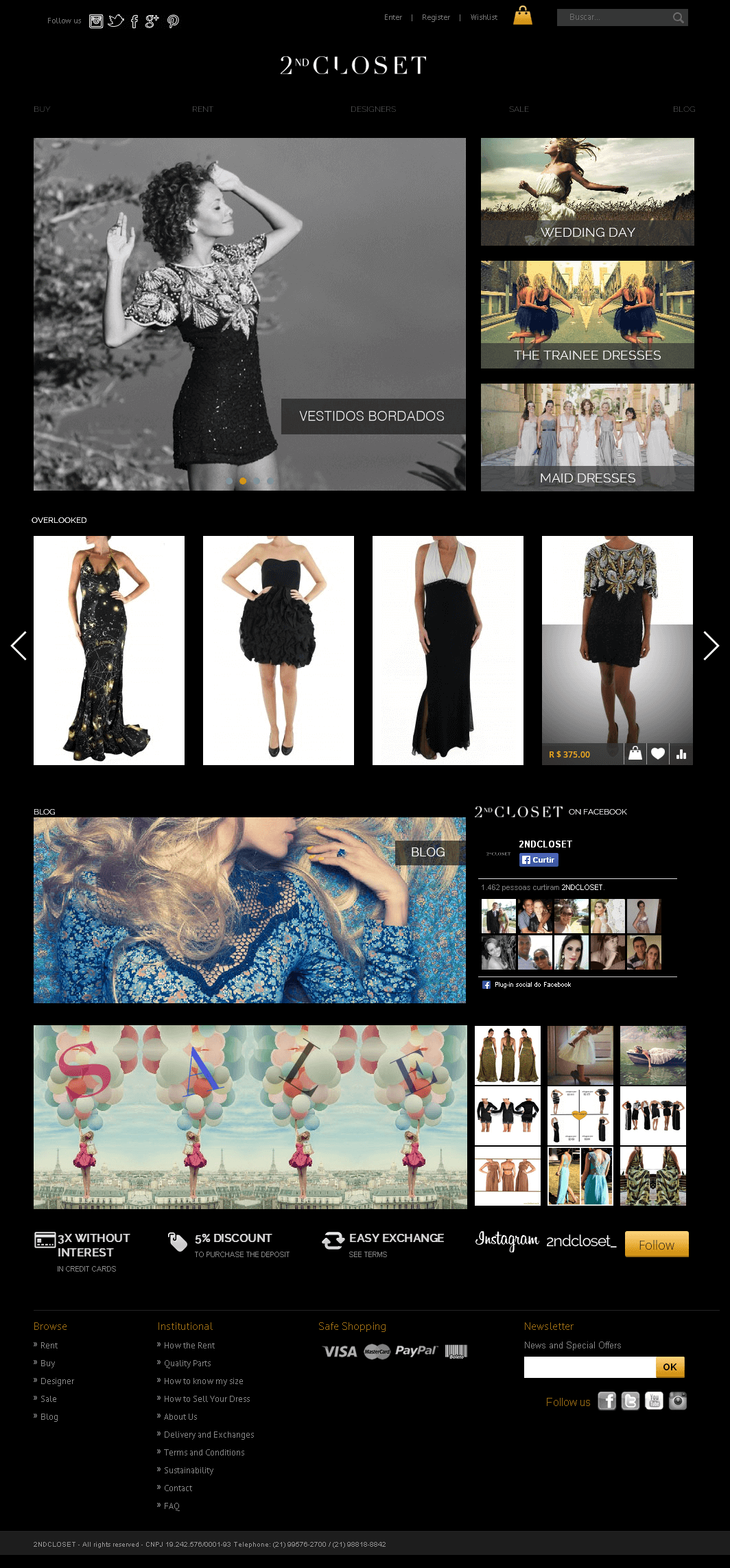 Magento Website for '2ndCLOSET' – Online Women's Apparel Store