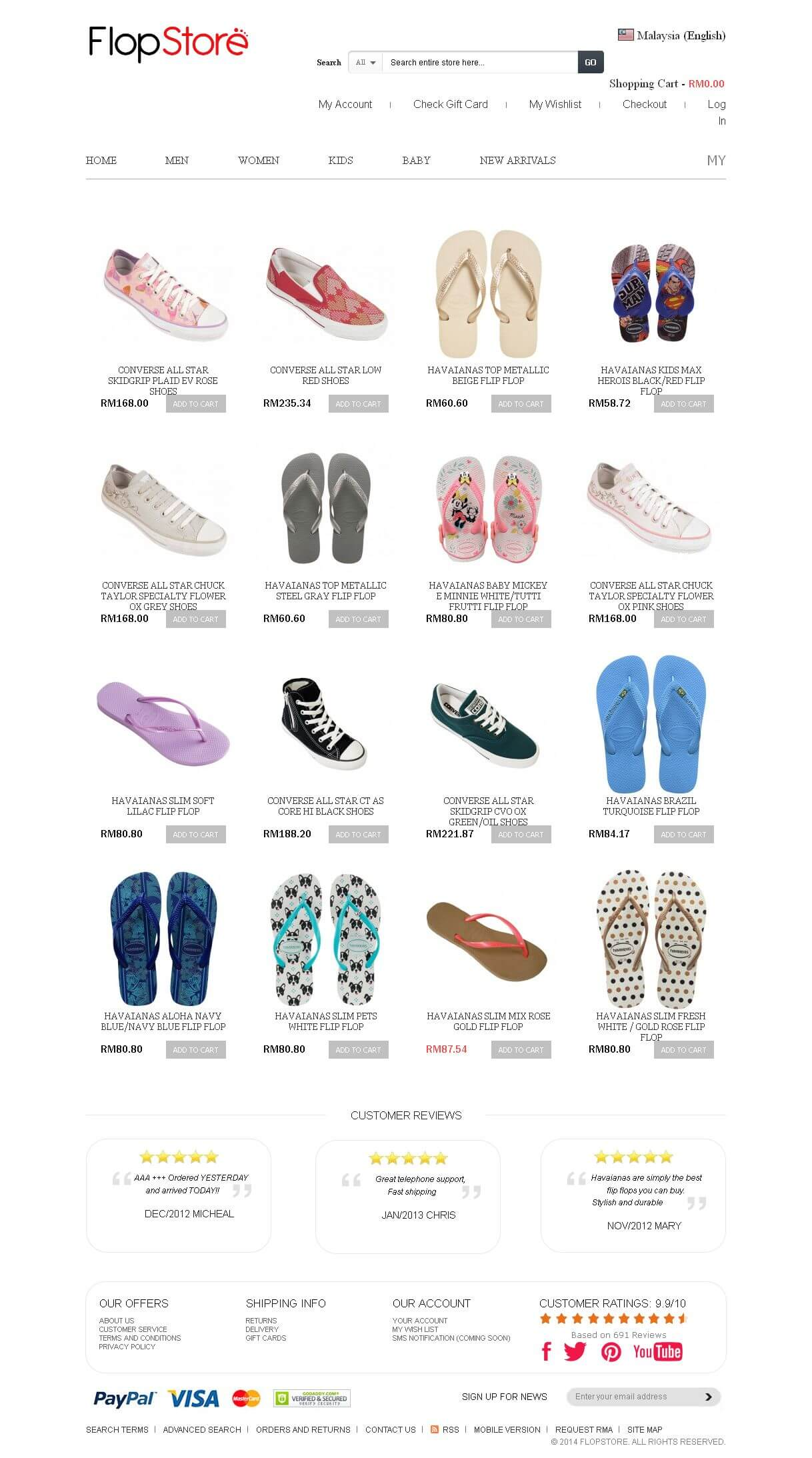 A Magento Based E-commerce Website for Selling Footwear