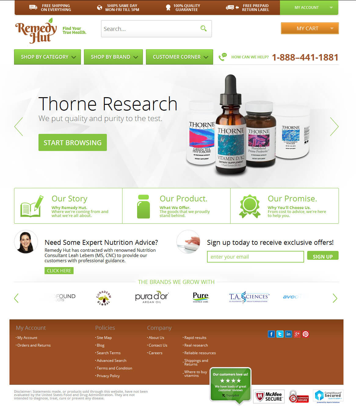 Magento Based eCommerce Store for Selling Home Remedies