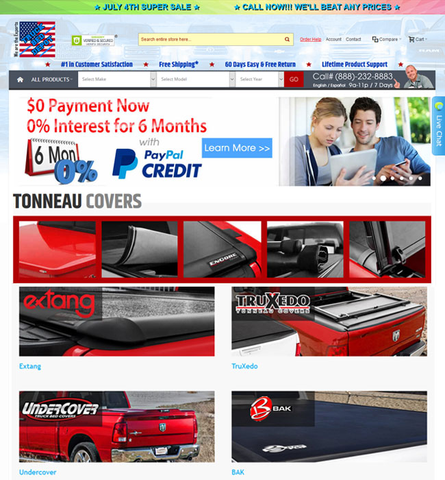 Enhancement of Magento Based eCommerce Website - Truck Bed Depot